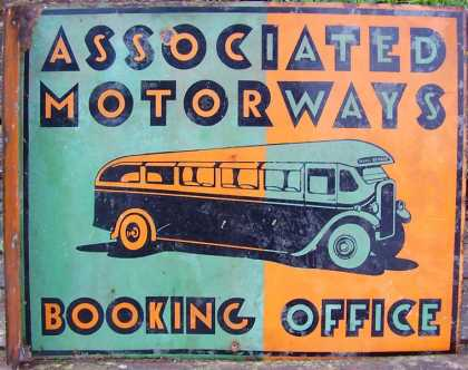 Associated Motorways Booking Service Sign