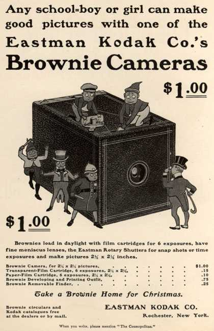 Kodak's Brownie cameras – Eastman Kodak Co.'s Brownie Cameras $1.00 (1900)