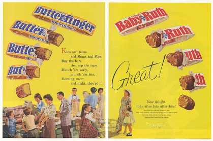 Curtiss Butterfinger Baby Ruth Candy Bars (1961)