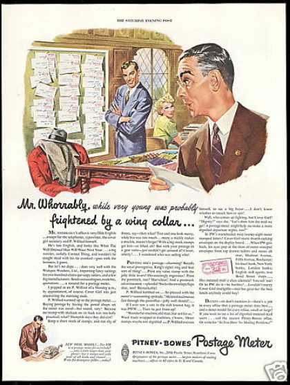 Pitney Bowes Postage Meter Anthony Art (1949)