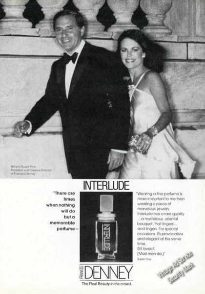 Interlude By Frances Denney Rare Perfume Adv (1978)