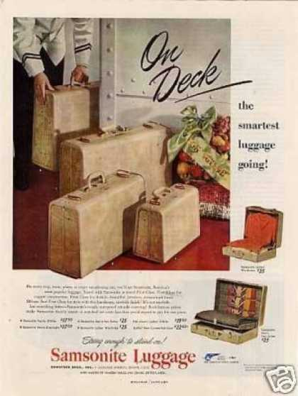 Samsonite Luggage (1949)