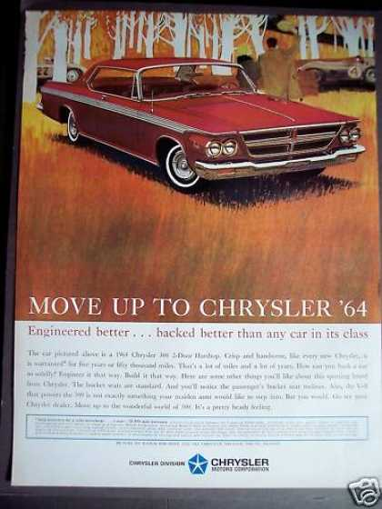 Chrysler 300 2-door Hardtop for '64 Red Car (1963)