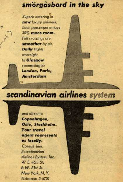 Scandinavian Airlines System – Smorgasboard in the sky (1947)