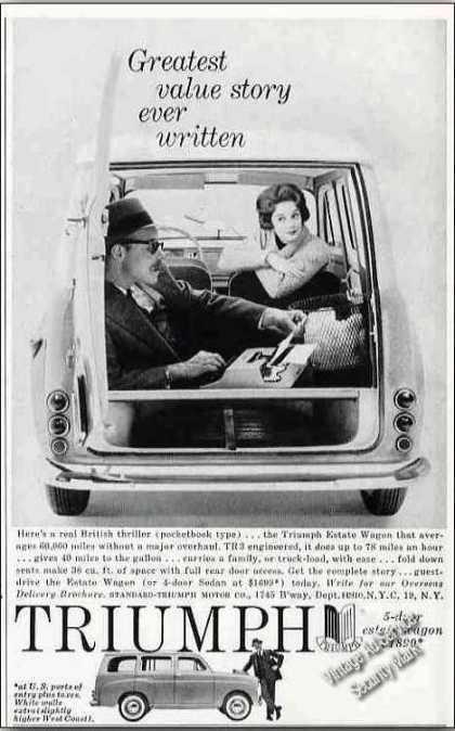 "Triumph Estate Wagon ""Greatest Value Story"" (1958)"
