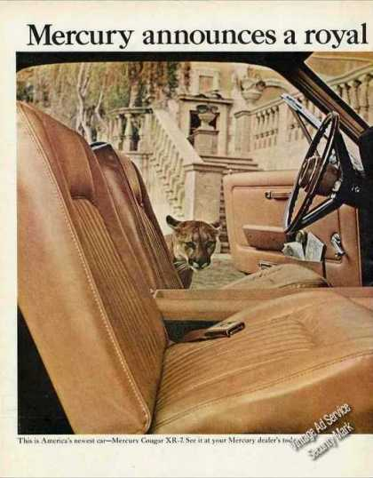Mercury Cougar Xr-7 Nice Announcement (1967)