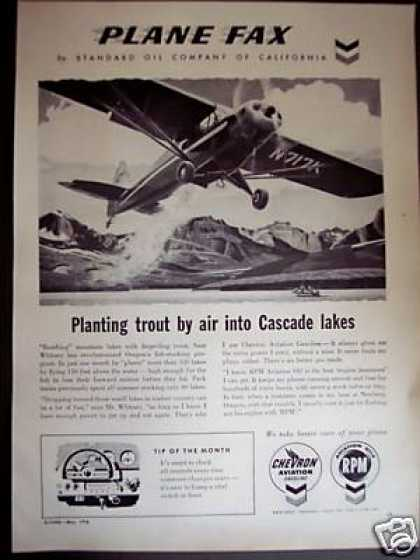 Stocking Trout In Oregon By Plane Standard Oil (1958)