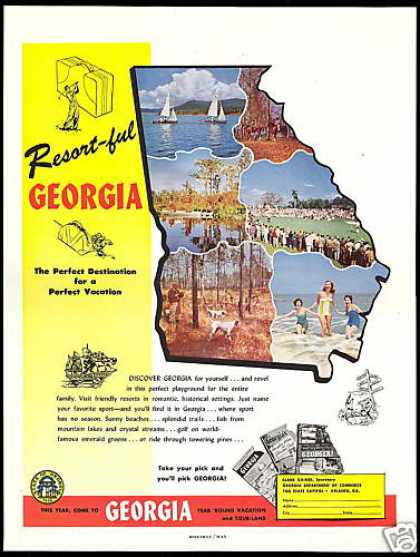 Georgia Travel Perfect Year Round Vacation (1954)