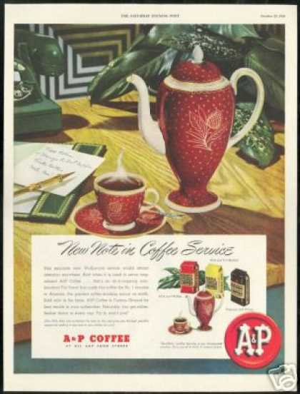 Wedgwood Coffee Service A&P Grocery Store (1948)