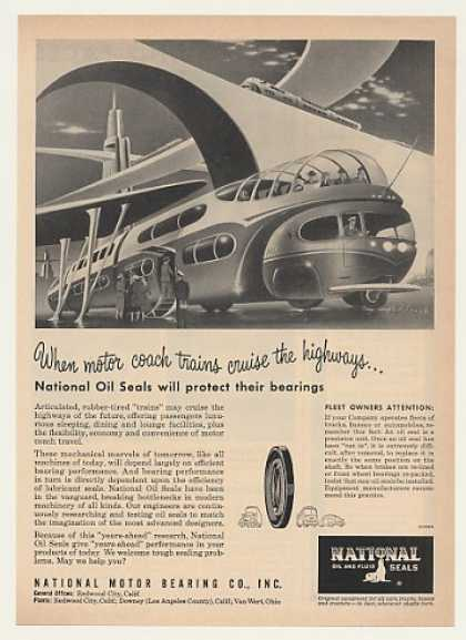 Futuristic Motor Coach Train National Oil Seals (1951)