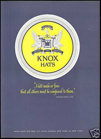 Charles Knox 1838 Quote Hat Logo Vintage (1954)