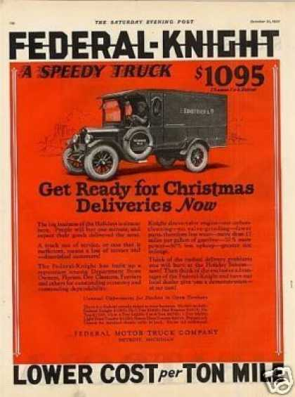 Federal Truck Ad L. Bamberger Co. (1925)