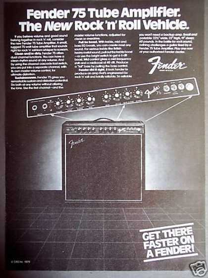 Fender 75 Tube Amp Amplifier (1980)