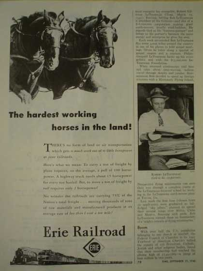 Erie Railroad The hardest working horses in the land (1945)