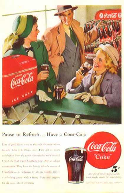 Coke – Soda Fountain Six Packs – Sold (1948)