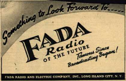 Fada Radio's Radio – Something to Look Forward To... Fada Radio of the Future (1945)