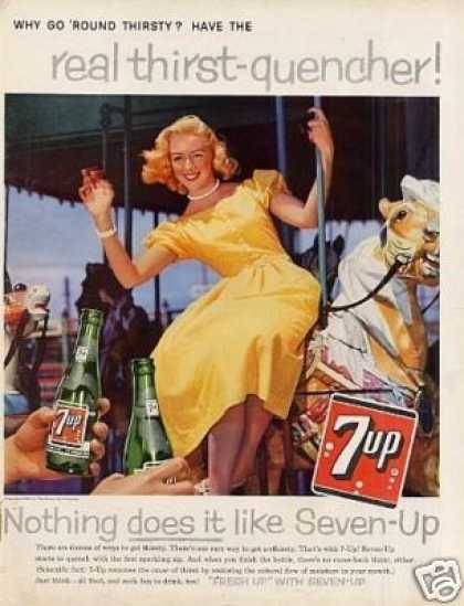 "Seven-up Ad ""Why Go Round... (1959)"
