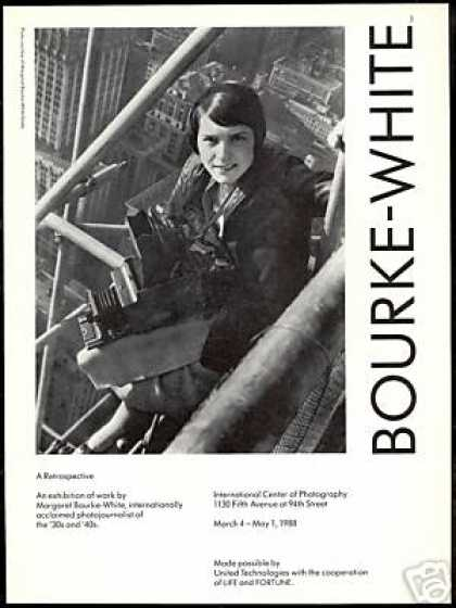 Margaret Bourke White Photo Journalist Exhibit. (1988)