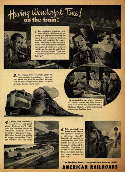 American Railroad's Railroads – Having Wonderful Time! on the train (1947)