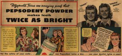Pepsodent Company's Pepsodent Tooth Powder – Pepsodent Powder makes teeth Twice As Bright (1942)
