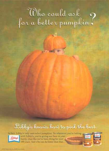 Libby&#8217;s Pumpkin Pie Mix &#8211; Anne Geddes Photo (1997)