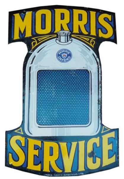 Morris Oxford Service Enamel Sign