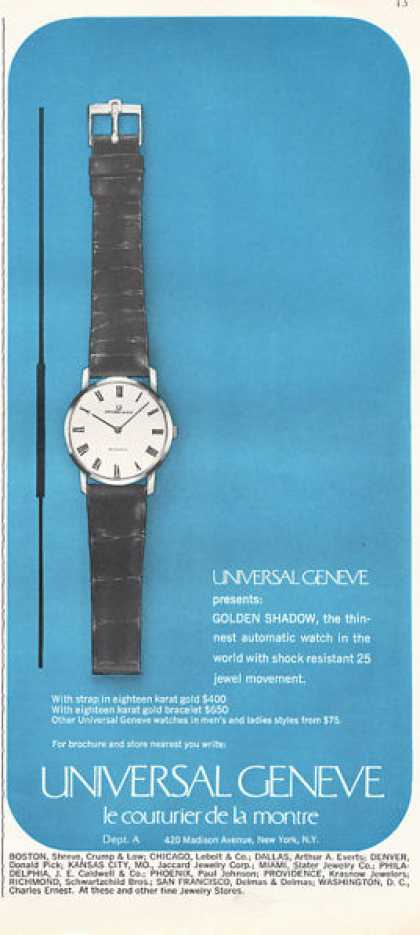 Universal Geneve Golden Shadow Watch (1966)