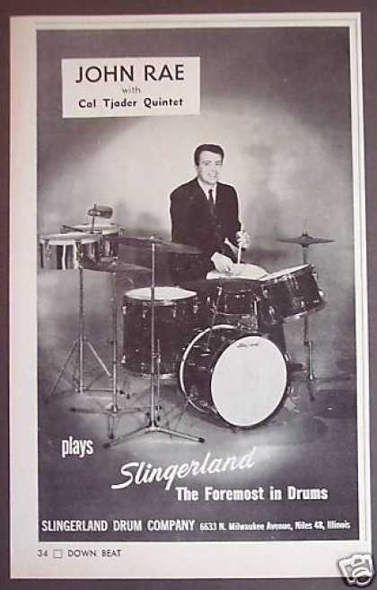 Drummer John Rae Photo Slingerland Drums (1964)