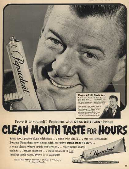 Lever Brothers Company's tooth paste – Clean Mouth Taste For Hours (1952)