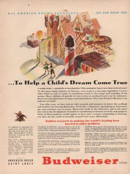 Childs Dream Budweiser Beer (1942)