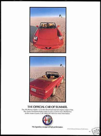 Alfa Romeo Spider Convertible Summer Car (1992)