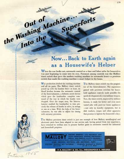 P.R. Mallory & Co.'s Mallory precision timer – Out of the Washing Machine Into the Superforts (1945)