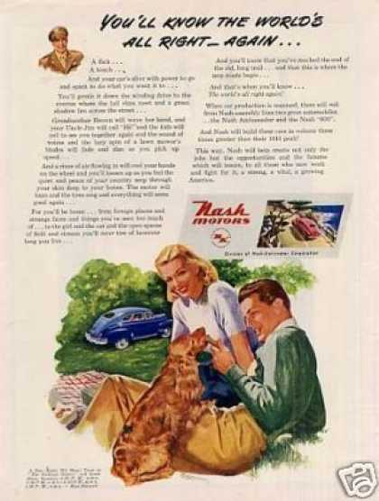 "Nash Car Ad ""You'll Know the World's Right... (1945)"