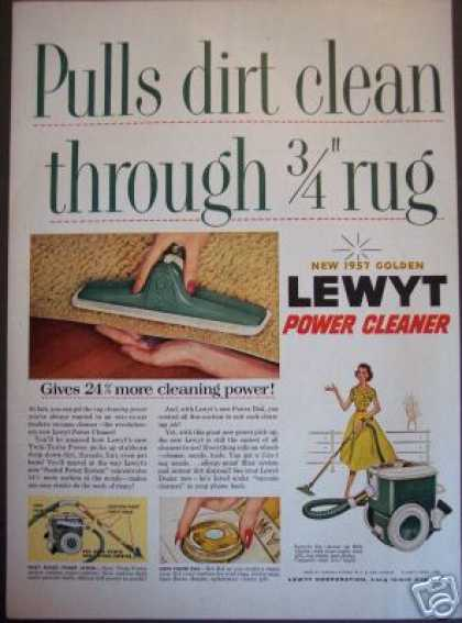 Original Lewyt Power Vacume Cleaner Retro (1956)