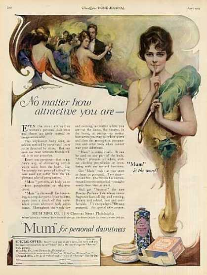 Mum Deodorant Color (1923)