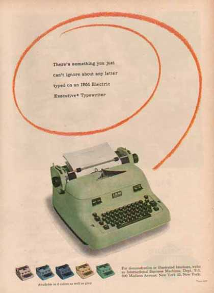 IBM Electric Typewriter – Green (1948)