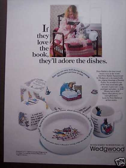 Wedgwood Peter Rabbit Dishes Nurseryware (1980)