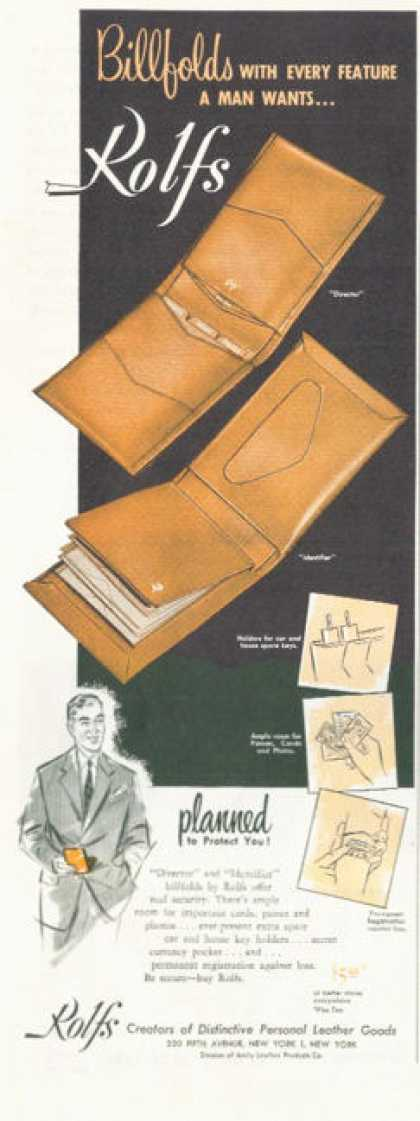 Rolfs Billfolds Wallet (1952)