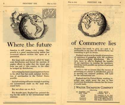 J. Walter Thompson Company's Advertising – Where the future of Commerce lies (1923)