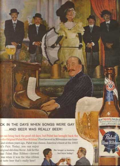 """Back in the days when songs were Gay...and Beer was really Beer!"" (1960)"