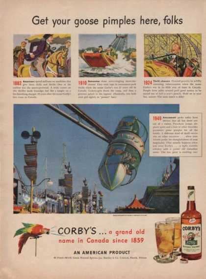 Goose Pimples Here Corbys Whiskey (1949)