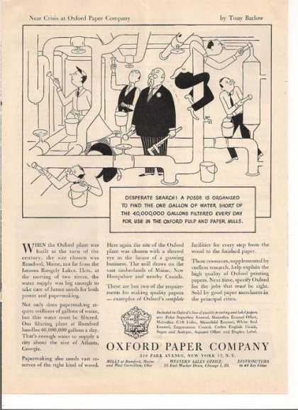 Oxford Paper Company Cartoon (1947)