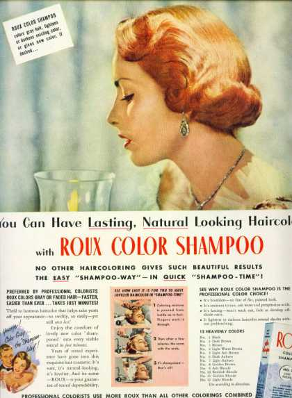 Roux Color Shampoo Colors Gray Hair C (1951)