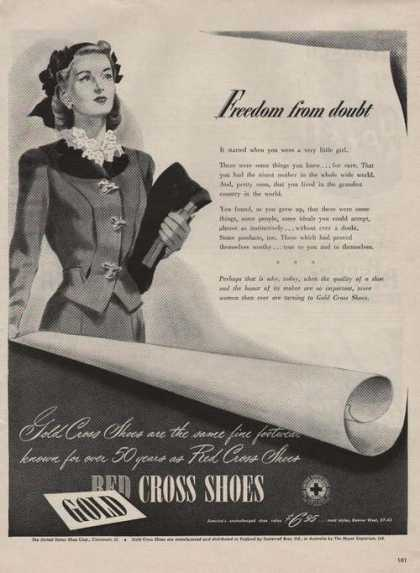 Gold Red Cross Womens Dress Shoes (1944)