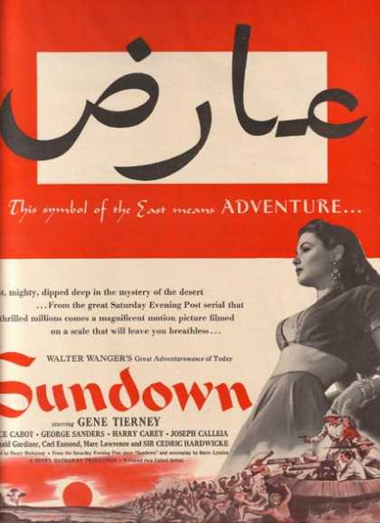 Sundown (Gene Tierney, Bruce Cabot and George Sanders) (1941)