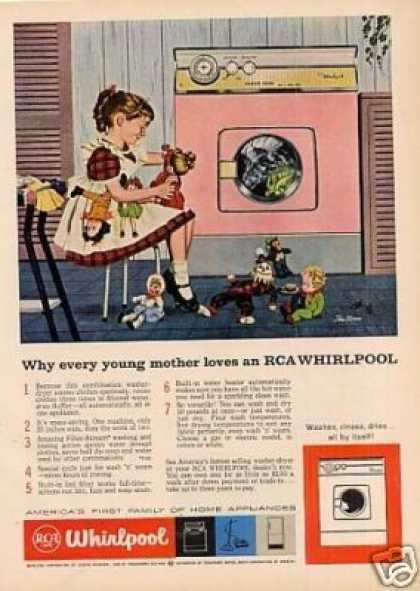 Rca Whirlpool Washer-dryer Ad Stan Ekman Art (1959)