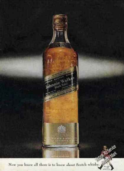 Johnnie Walker Black Label Nice Bottle Photo (1963)