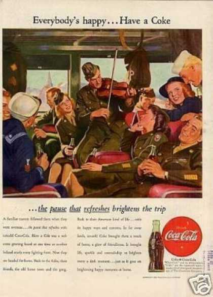 "Coca-cola Color Ad ""Everybody's Happy... (1946)"