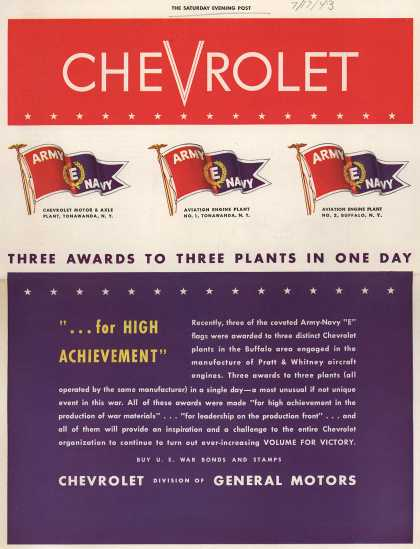 "General Motor's Army Navy ""E"" – Chevrolet (1943)"