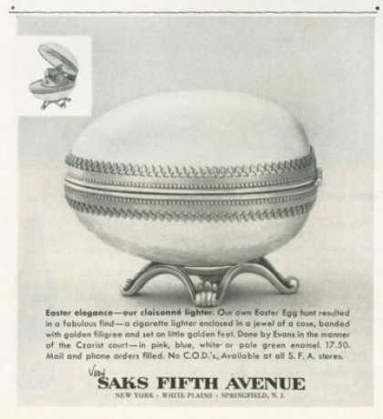 Saks Fifth Easter Egg Cloisonne Lighter (1958)